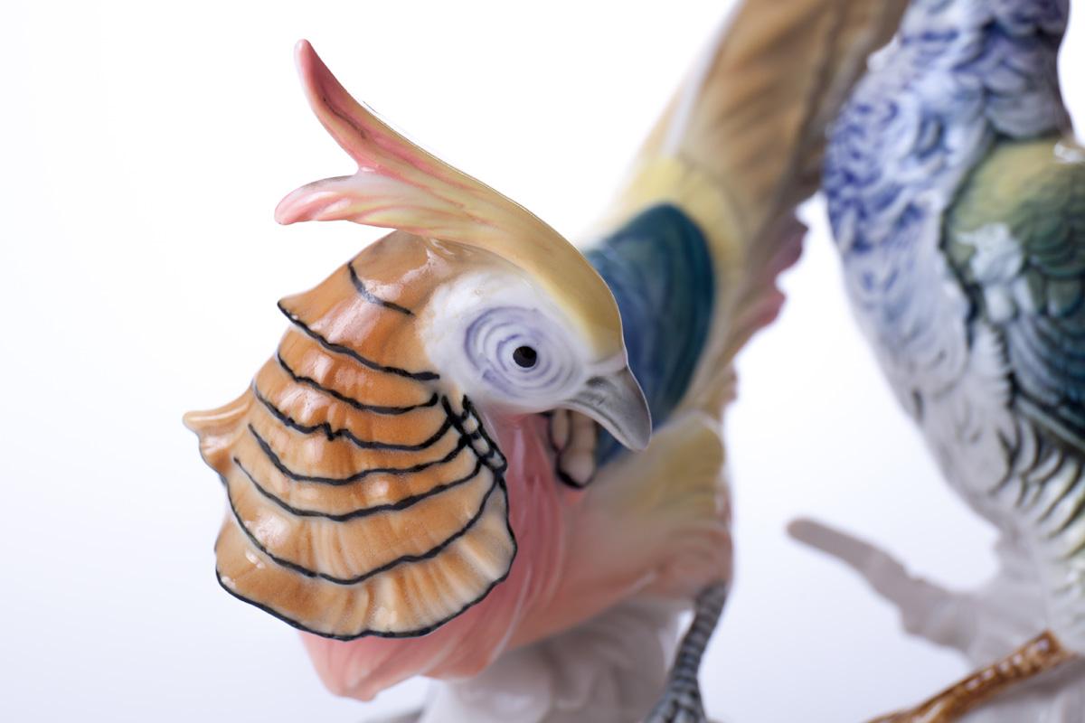 "Фарфоровая статуэтка KARL ENS ""Золотые фазаны"", 21 см"