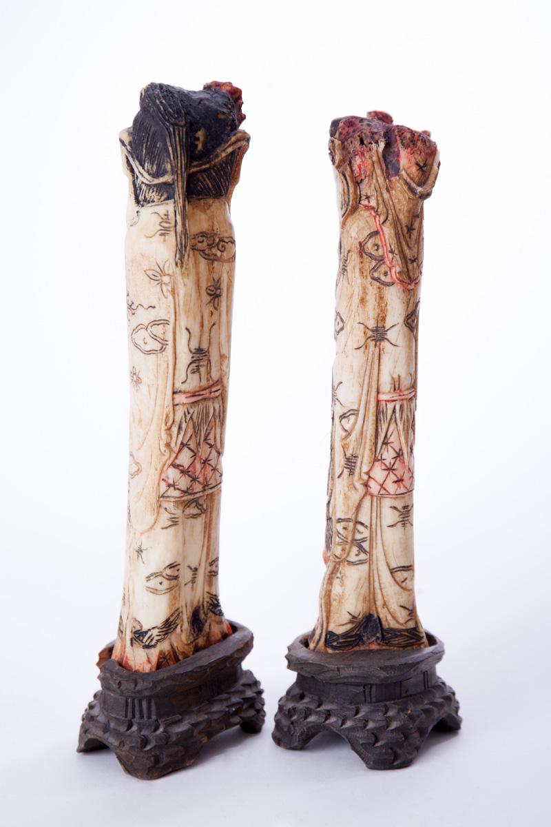 Парные статуэтки японского императора и его жены, 26.5 см