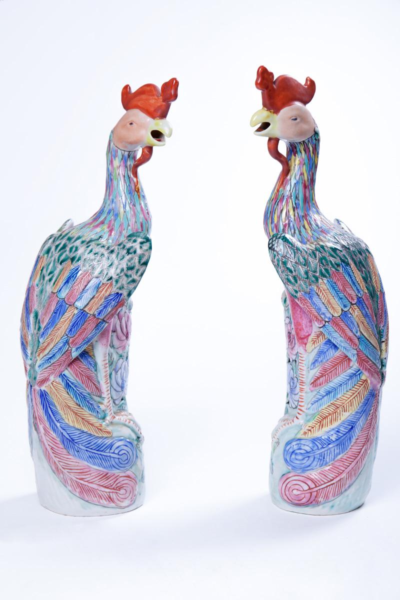 Парные статуэтки Птицы Феникс, 35.5 см