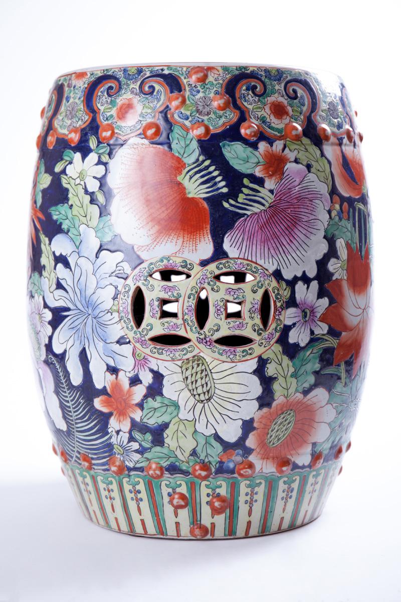 Садовый стул с крупным цветочным декором, 46 см