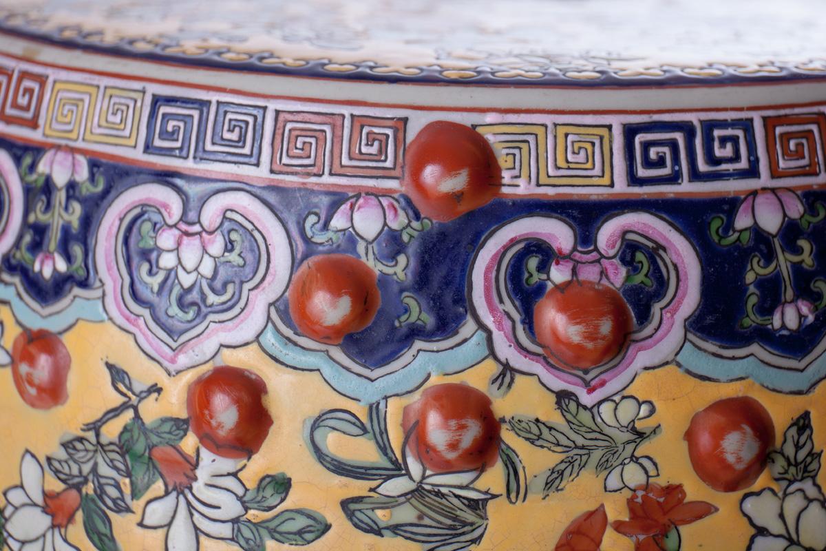 Садовый стул с сюжетами из быта императорской семьи и цветочным декором, 47 см