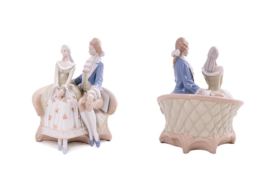 """Фарфоровая статуэтка """"Галантный кавалер и дама"""", 25 см"""