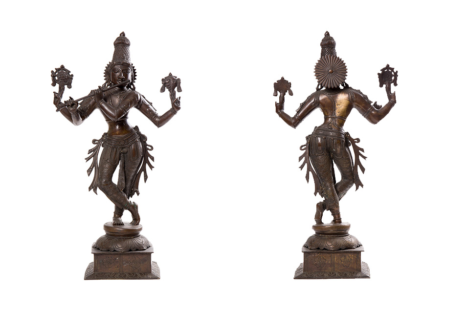 Индийское Божество Вишну с флейтой, 71 см