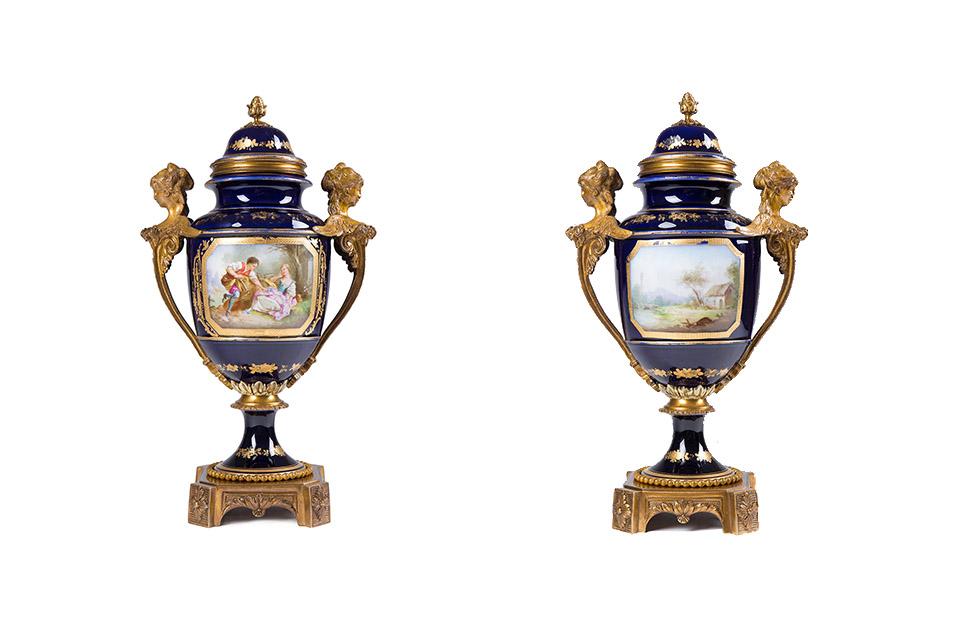 Французская ваза в манере мануфактуры de SEVRES, 36.5 см