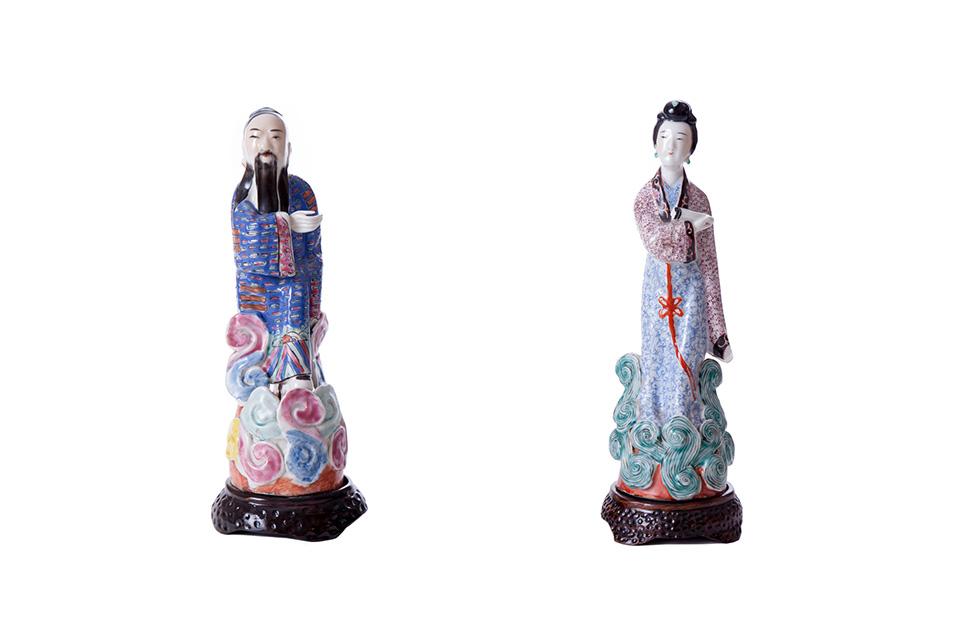 Парные статуэтки мужчины и женщины, 26,5 см