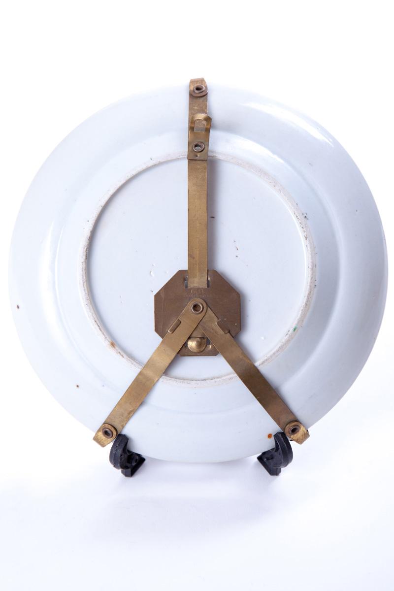 Декоративная тарелка с бронзовыми элементами в виде львиных лап, 20 см