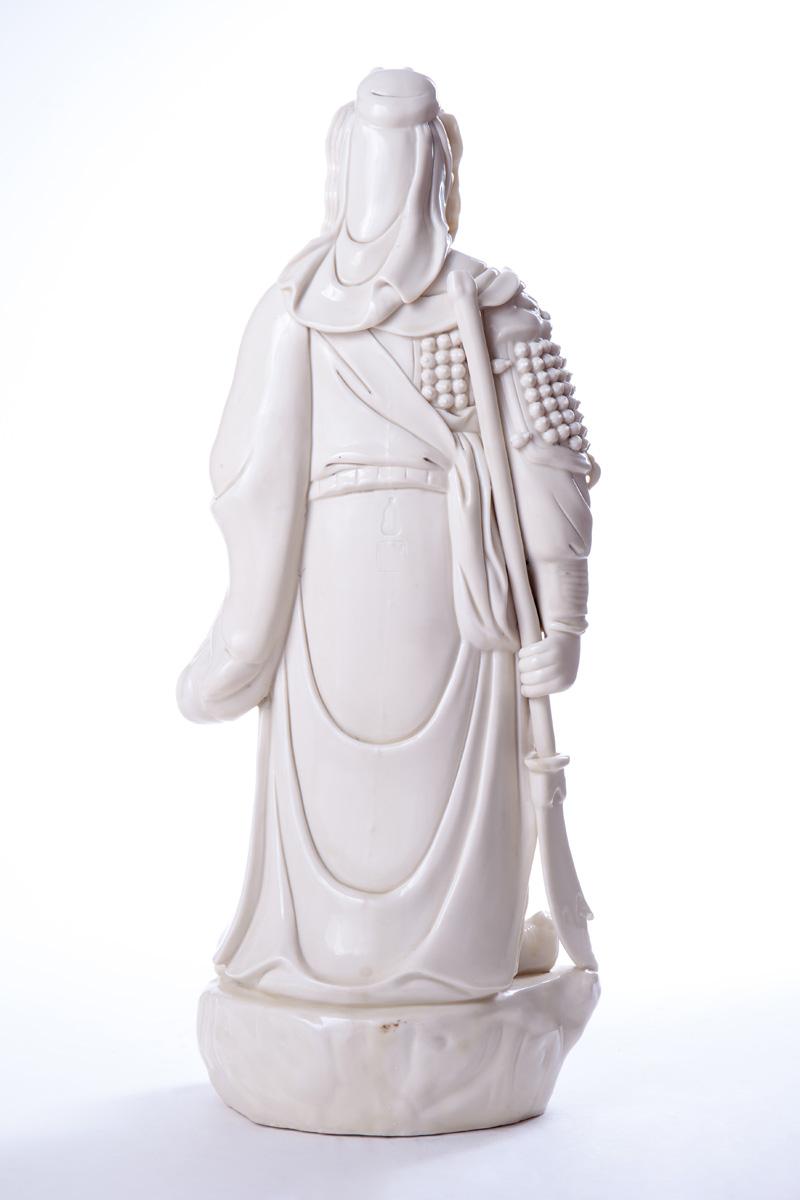 Большая фарфоровая статуя Guan Yu, 49.5 см