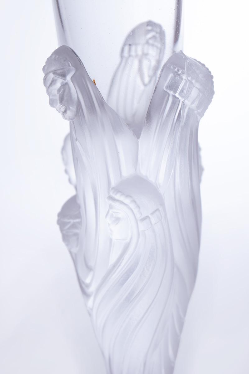 Бокал для шампанского Erté с рельефными фигурами, 30 см