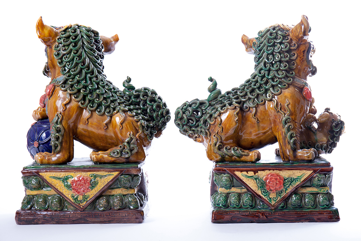 Пара больших китайских львов FOO, 39 см