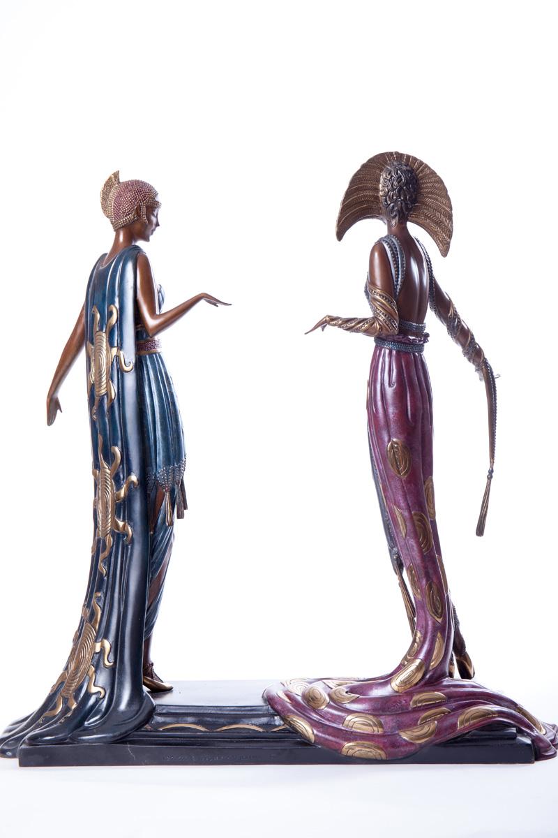 """Бронзовая скульптура Erté """"Two vamps"""", 47 см"""