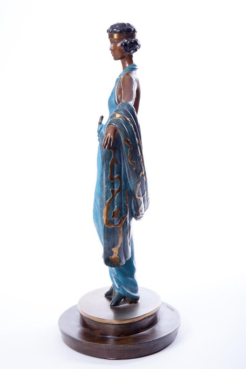 "Бронзовая скульптура Erté ""Gala"", 38.5 см"