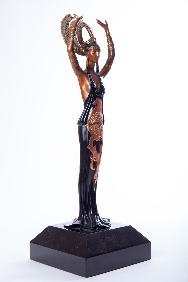 "Бронзовая скульптура Erté ""Triumph"", 55 см"
