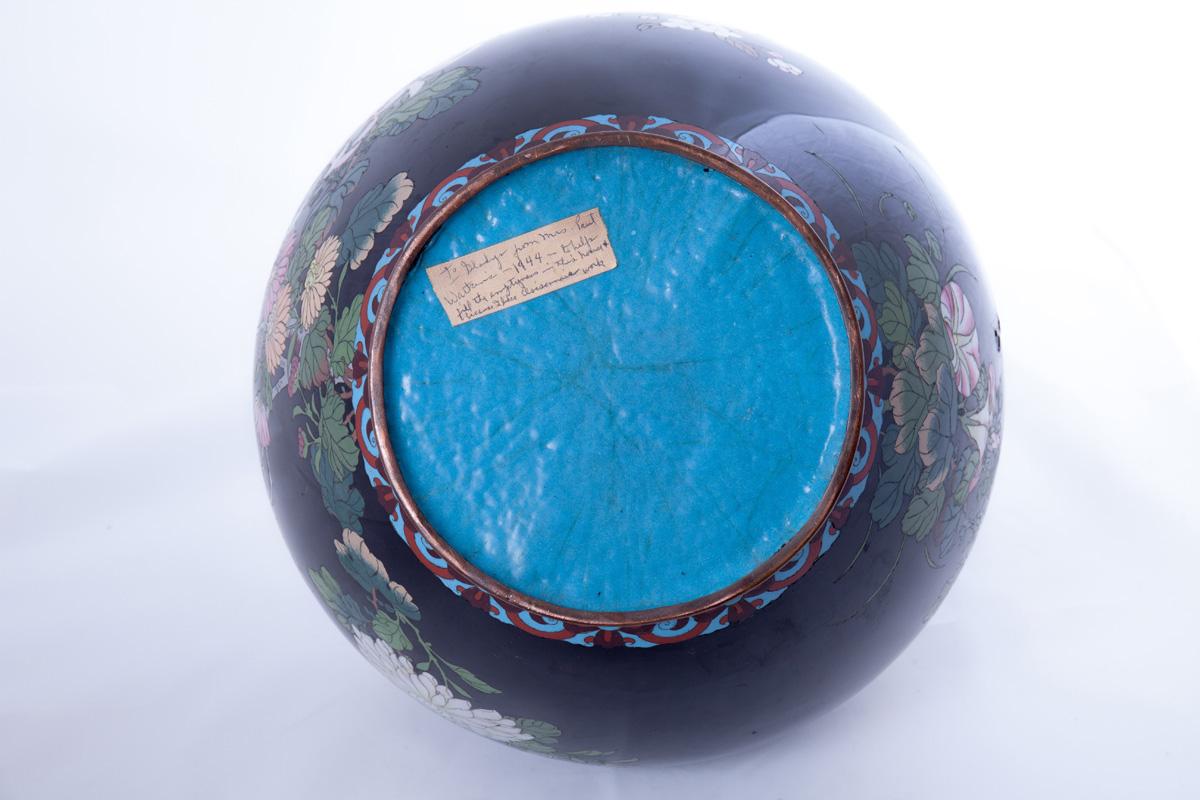 Цветочный горшок с изображением ветвей сакуры и цветов, 26 см