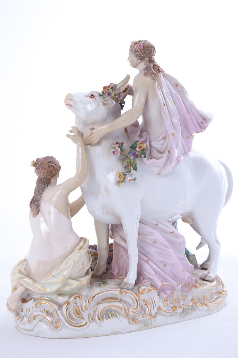 Статуэтка коровы в окружении трех девушек MEISSEN, 21.5 см
