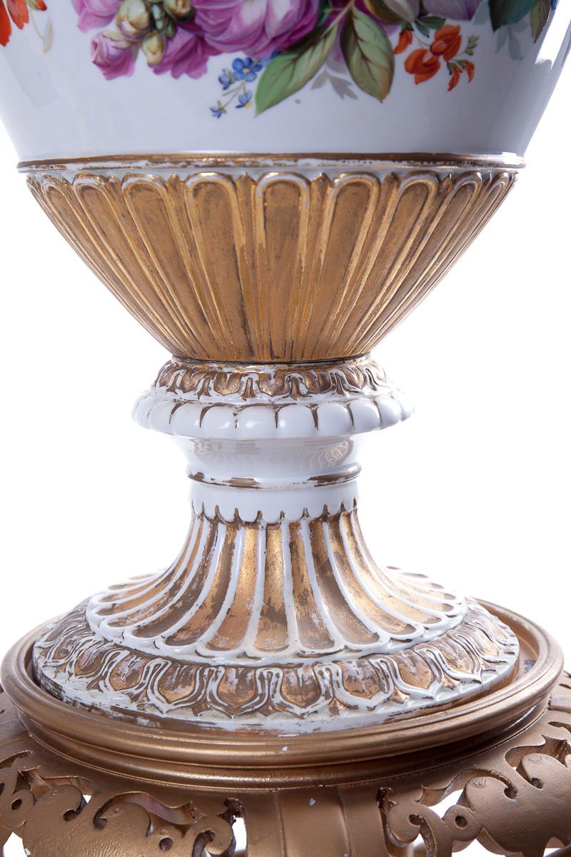 Большие парные вазы Meissen на подставках, 47 см
