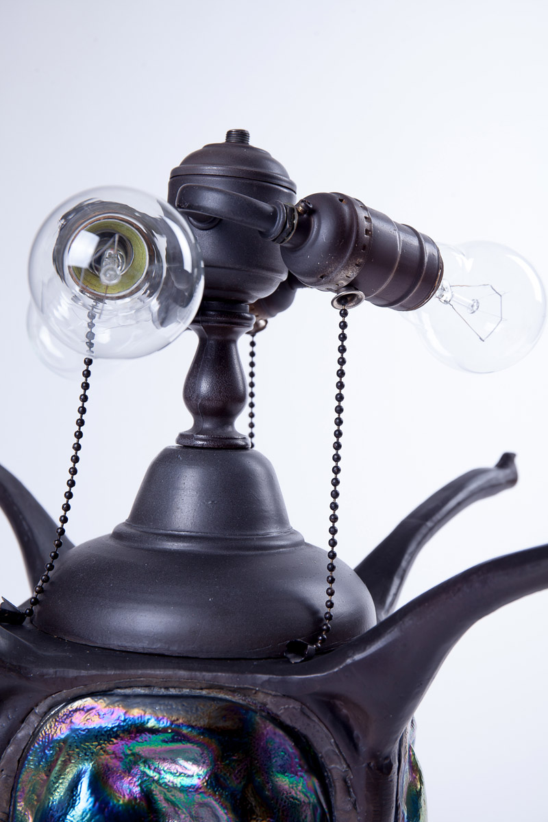 Настольная лампа в стиле арт-деко, 50 см