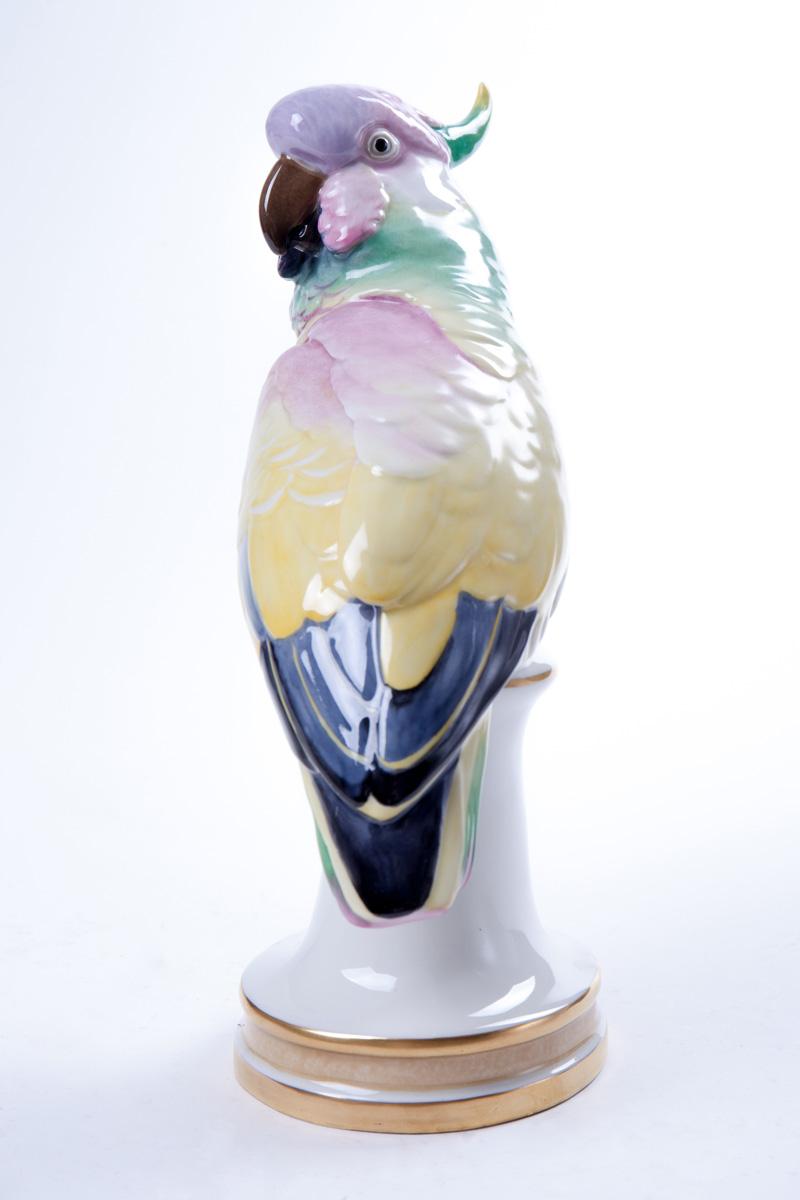 "Фарфоровая статуэтка KARL ENS ""Разноцветный Какаду"", 29 см"