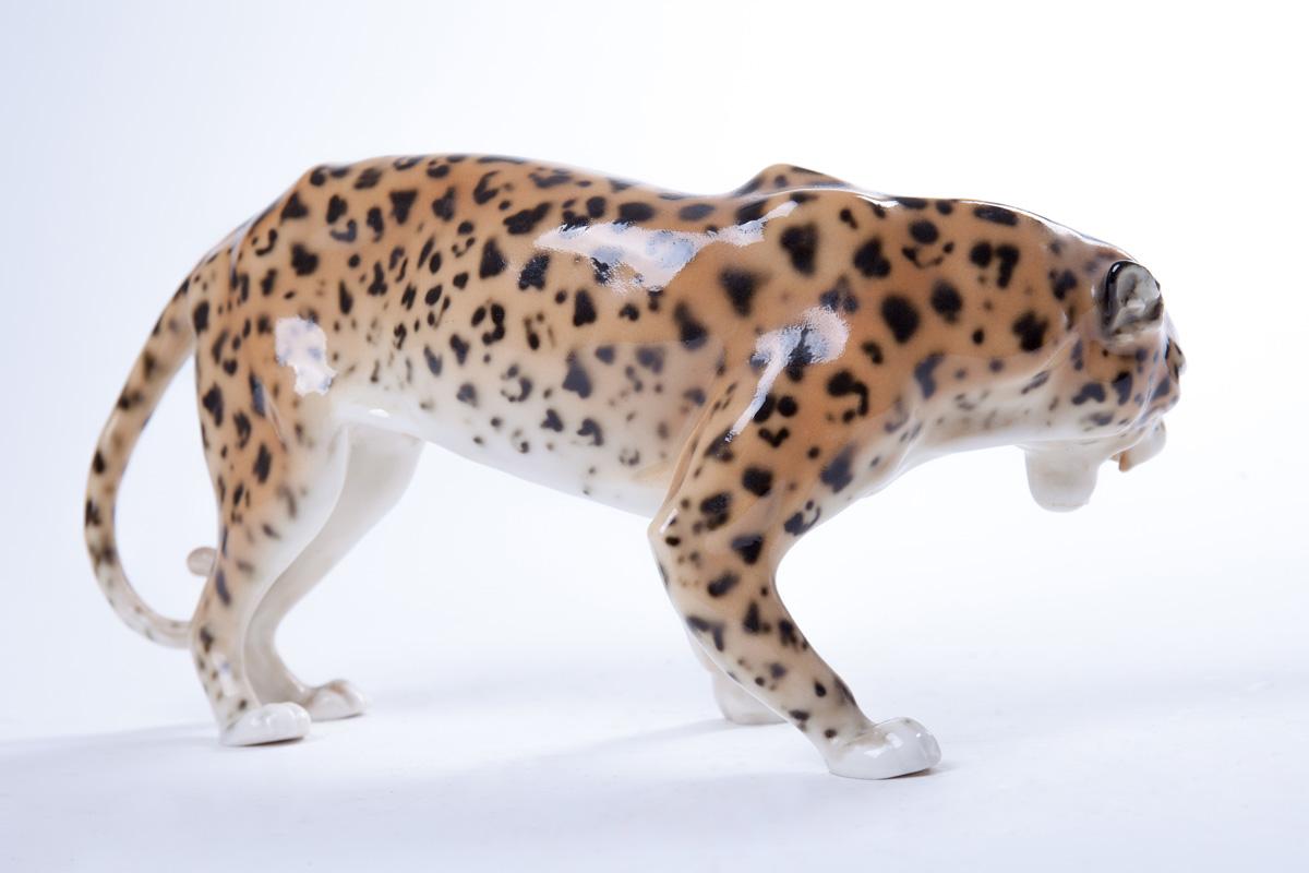"Фарфоровая статуэтка KARL ENS ""Леопард"", 12.5 см"