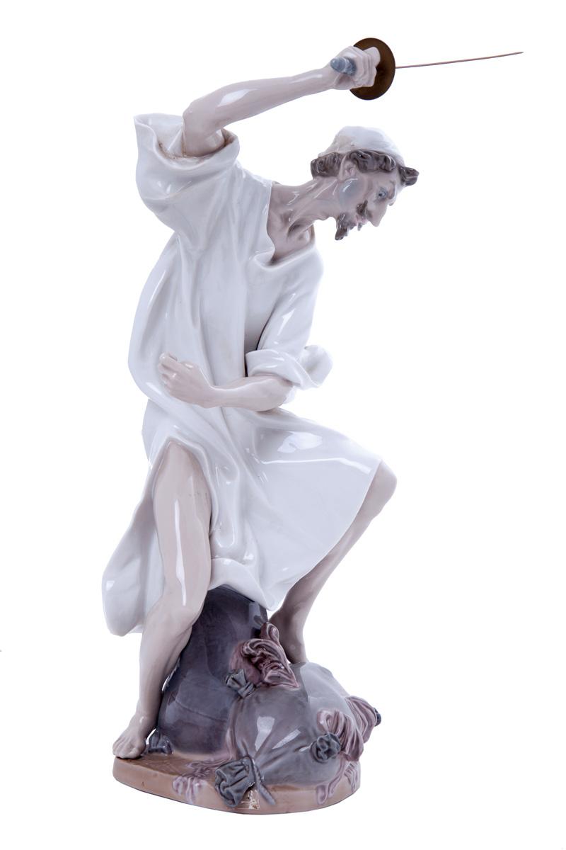 """Большая фарфоровая статуэтка Lladro """"WRATH OF DON QUIXOTE"""", 40 см"""