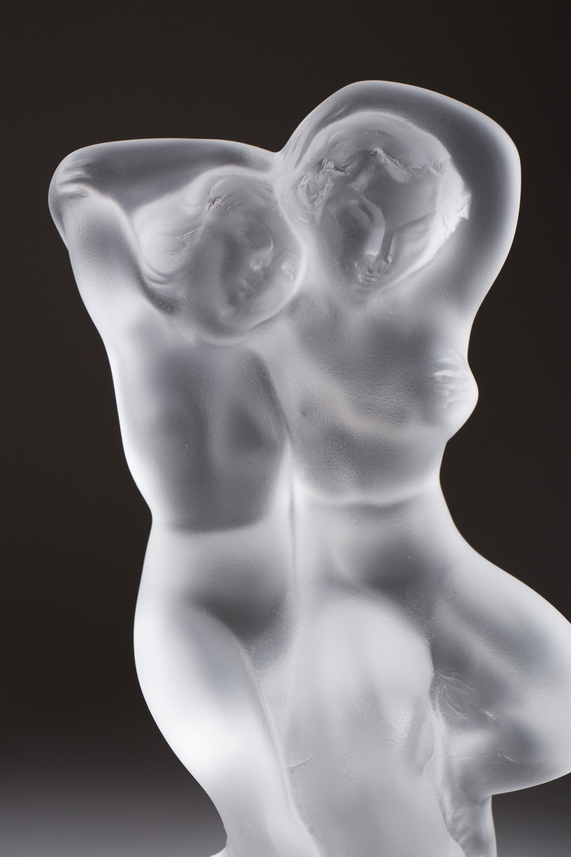 """Миниатюрная статуэтка Lalique """"Pan and Diane"""", 14 см"""