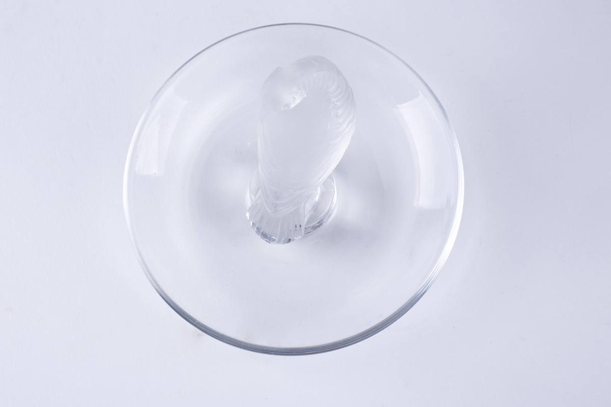 """Миниатюрная статуэтка Lalique """"Птица, чистящая крылья"""", 8 см"""
