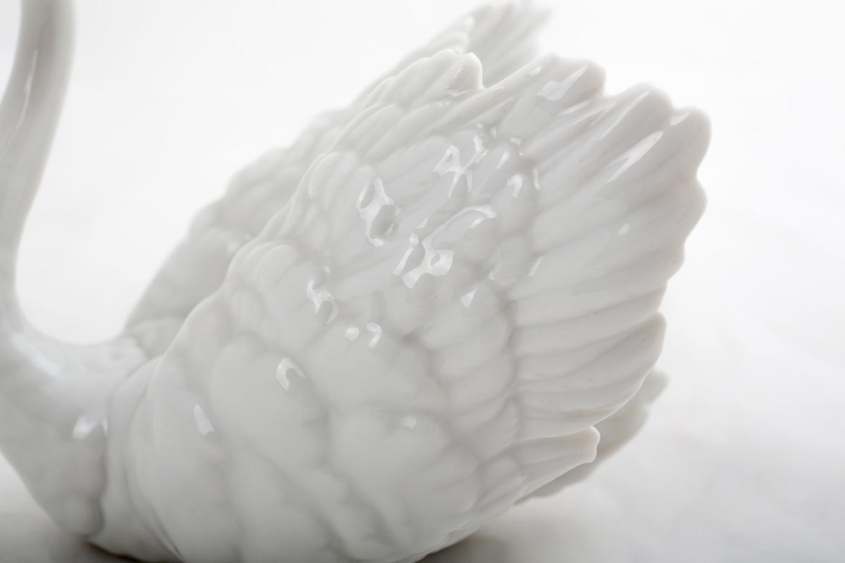 """Фарфоровая статуэтка Lladro """"Плывущий лебедь"""", 9.5 см"""