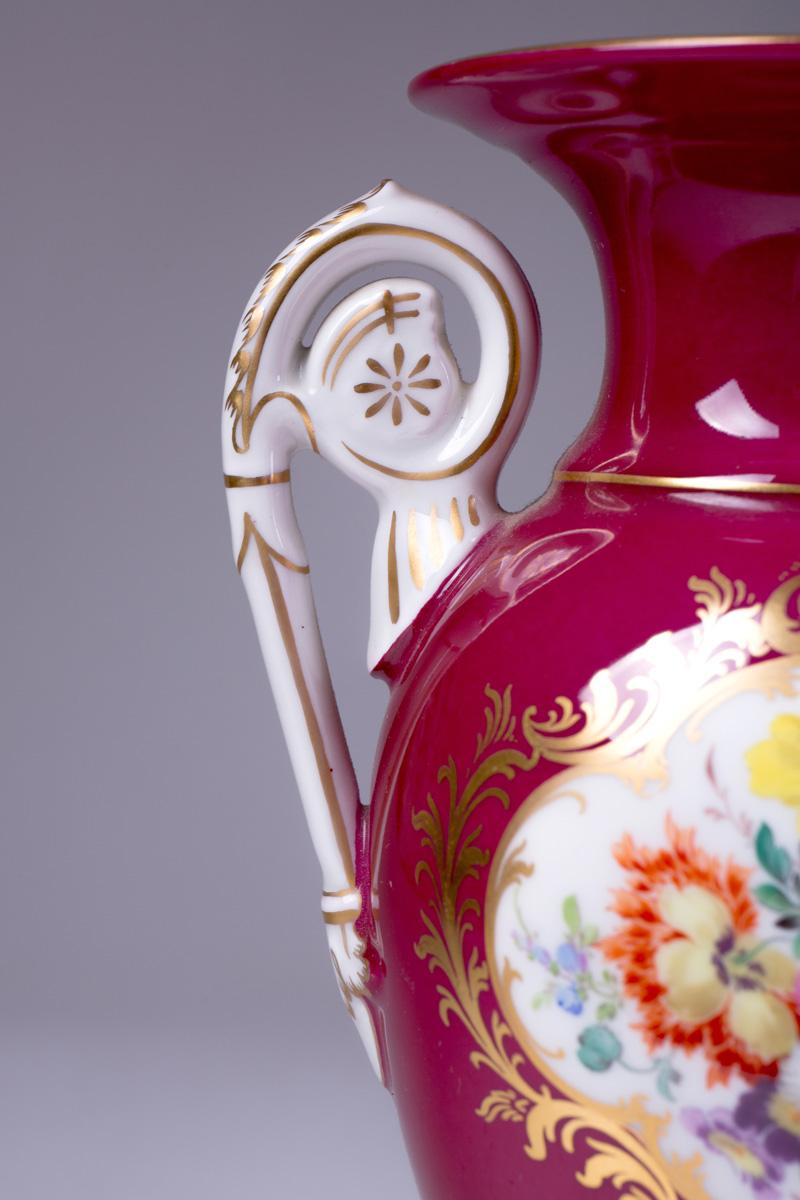 Пара винтажных ваз Meissen, 23 см