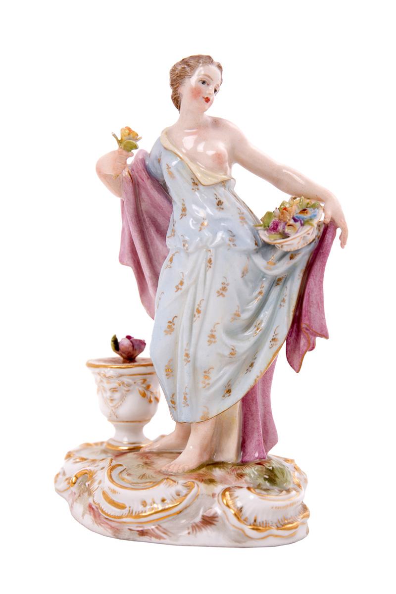 """Статуэтка MEISSEN """"Девушка с цветами"""", 12 см"""