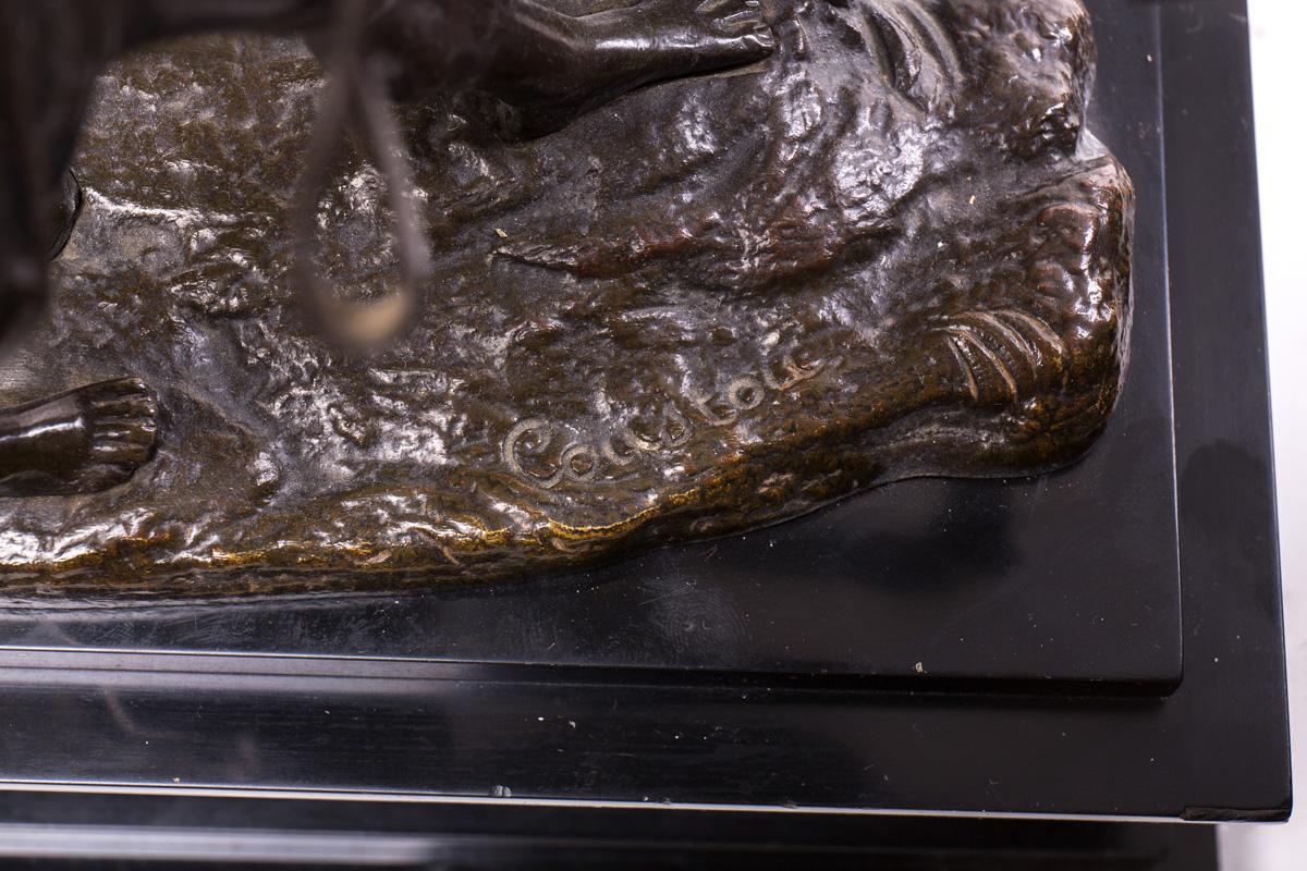 """Бронзовые скульптуры """"Укротитель лошадей"""", 35.5 см"""