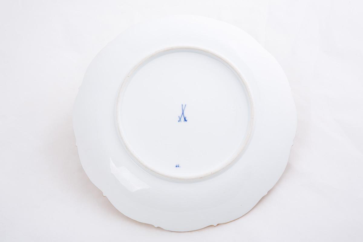 Фарфоровое блюдо Meissen с композицией из фруктов, 28.7 см