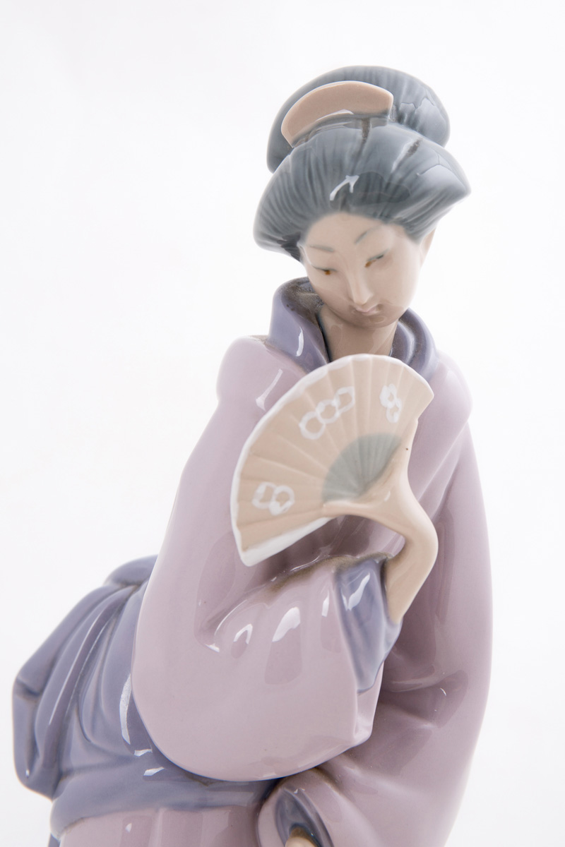 "Статуэтка Lladro ""Гейша с веером"", 32.5 см"