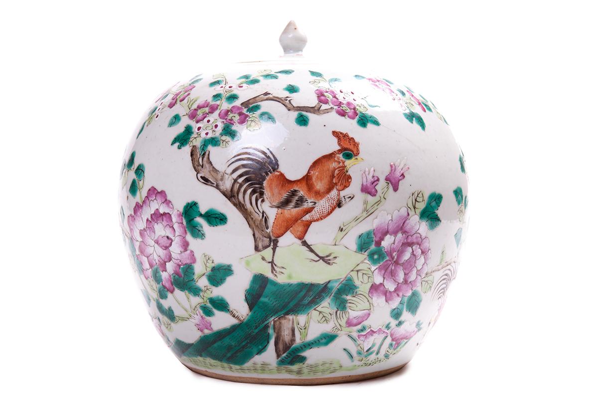 Фарфоровая ваза шаровидной формы, 22 см