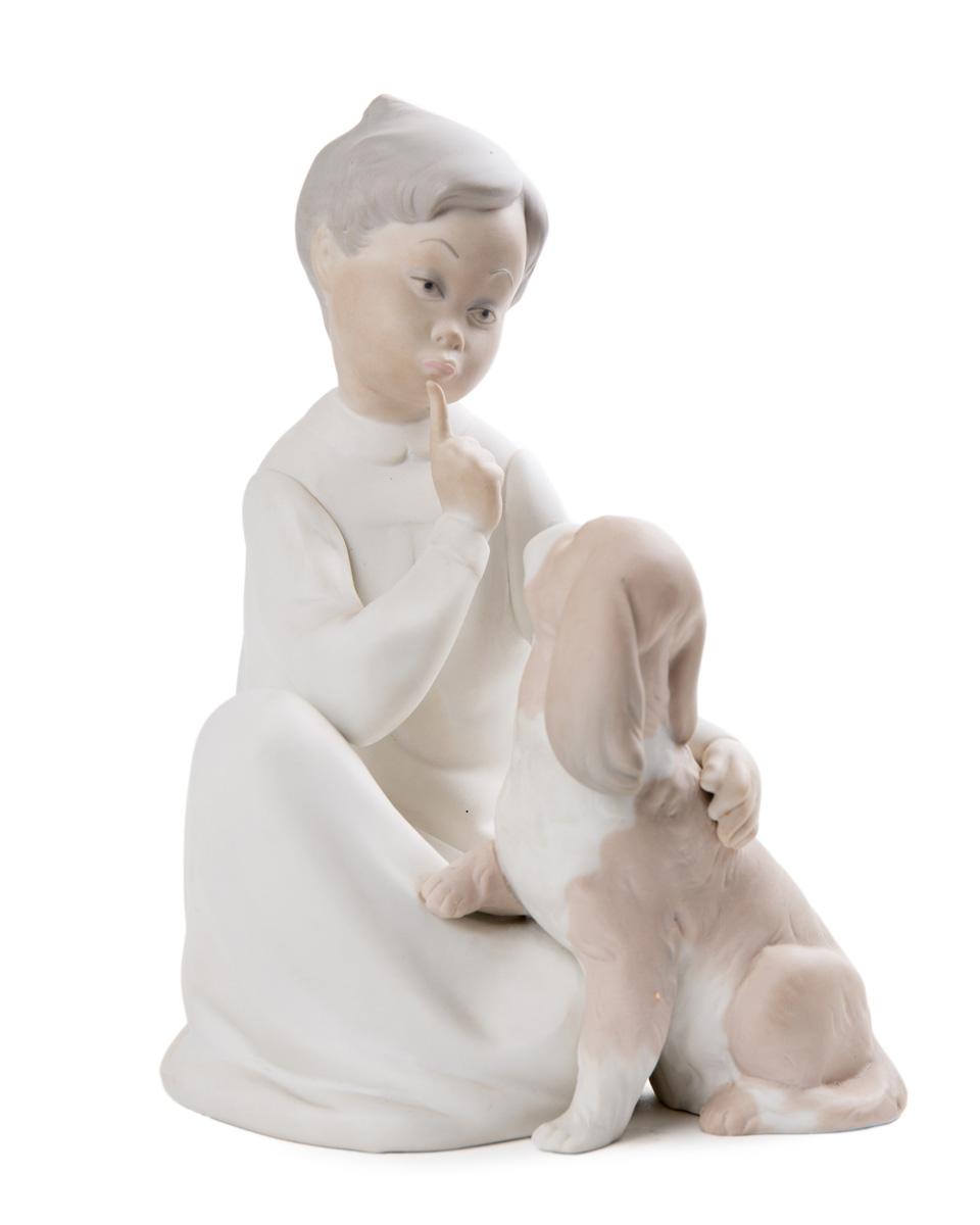 """Статуэтка Lladró """"Мальчик и собака"""", 19.5 см"""