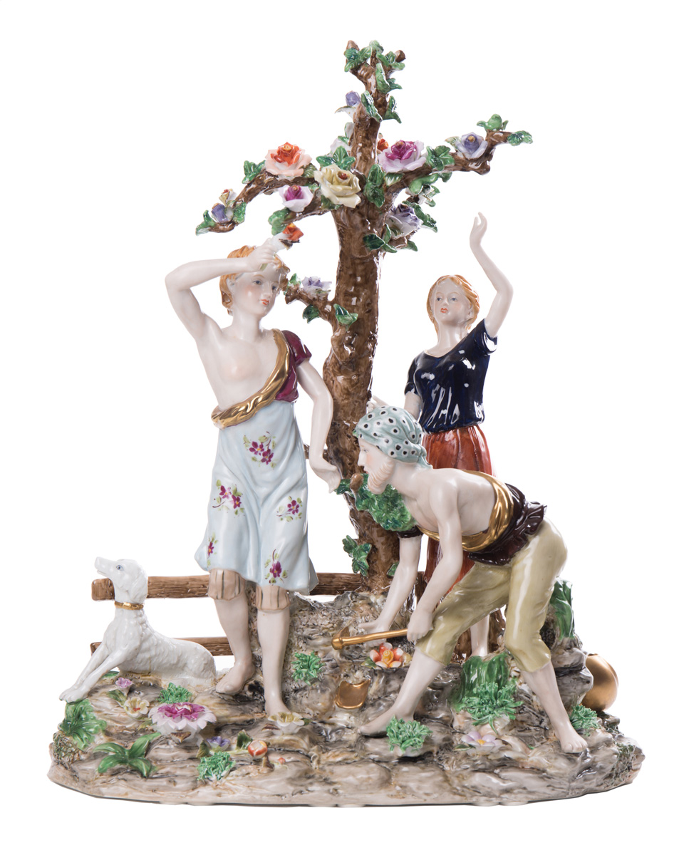 Сюжетная статуэтка RICHARD KLEMM (Дрезден), 41 см