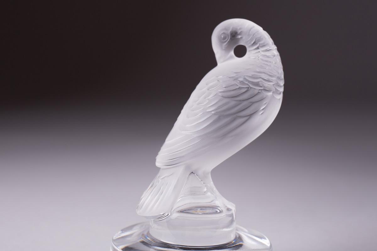 """Хрустальная статуэтка-держатель Lalique """"Turtle Dove"""", 8 см"""