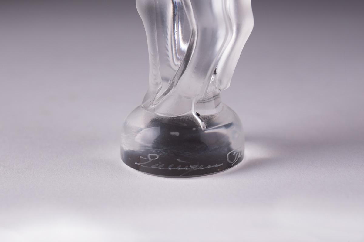"""Миниатюрная хрустальная статуэтка Lalique """"Bastia"""", 8.5 см"""