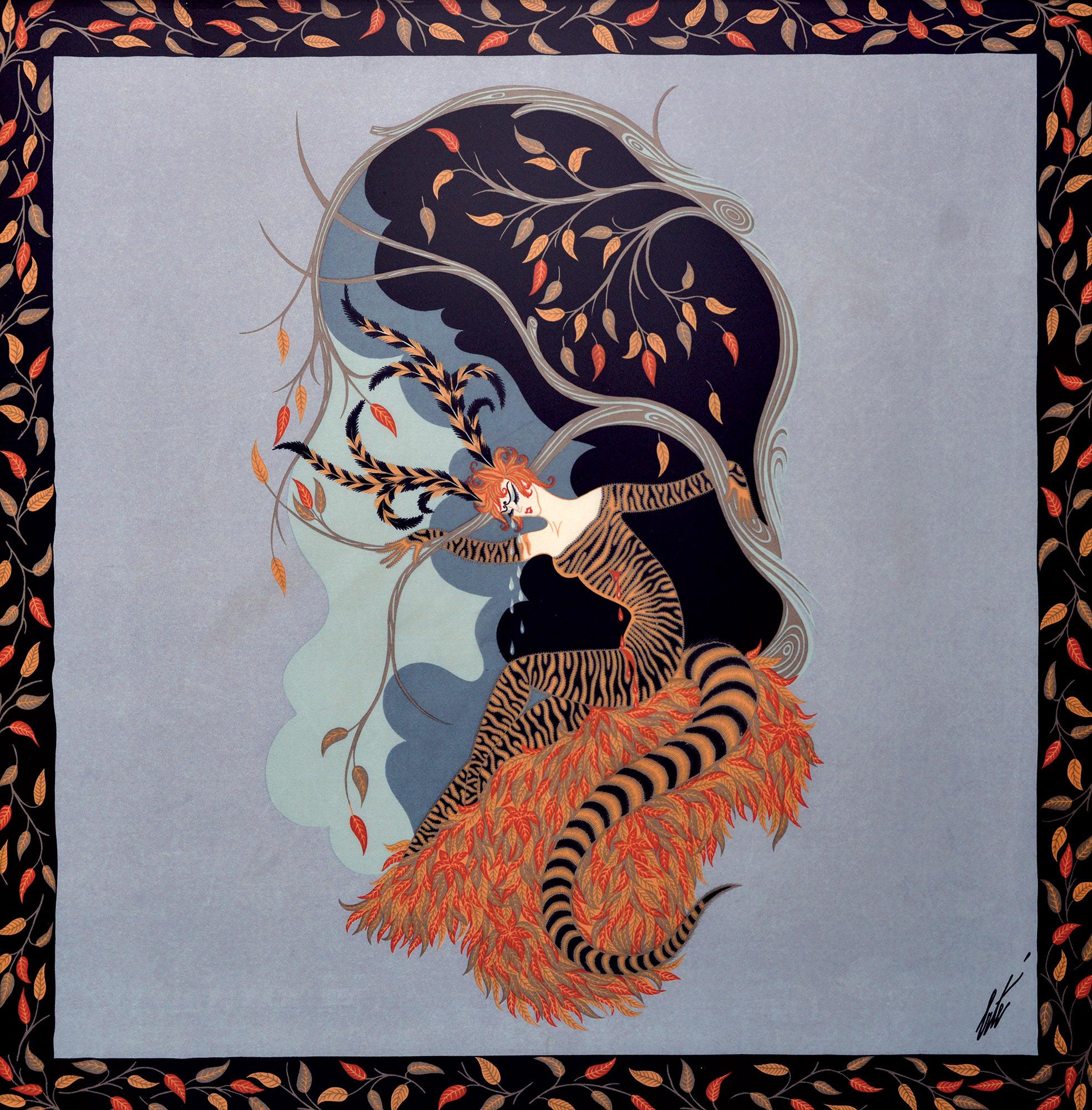 Шелкография Erte «Тигровая Лили»