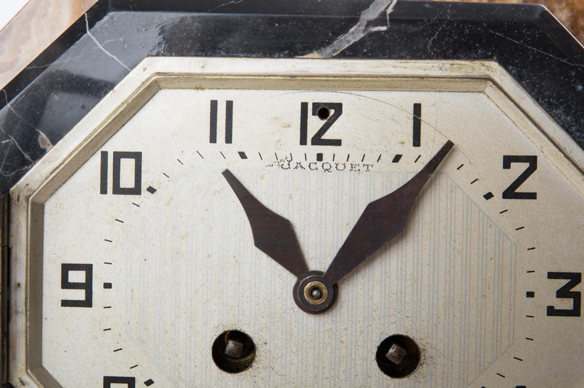 "Скульптурные часы ""Охота"" эпохи ART DECO, 60 см"