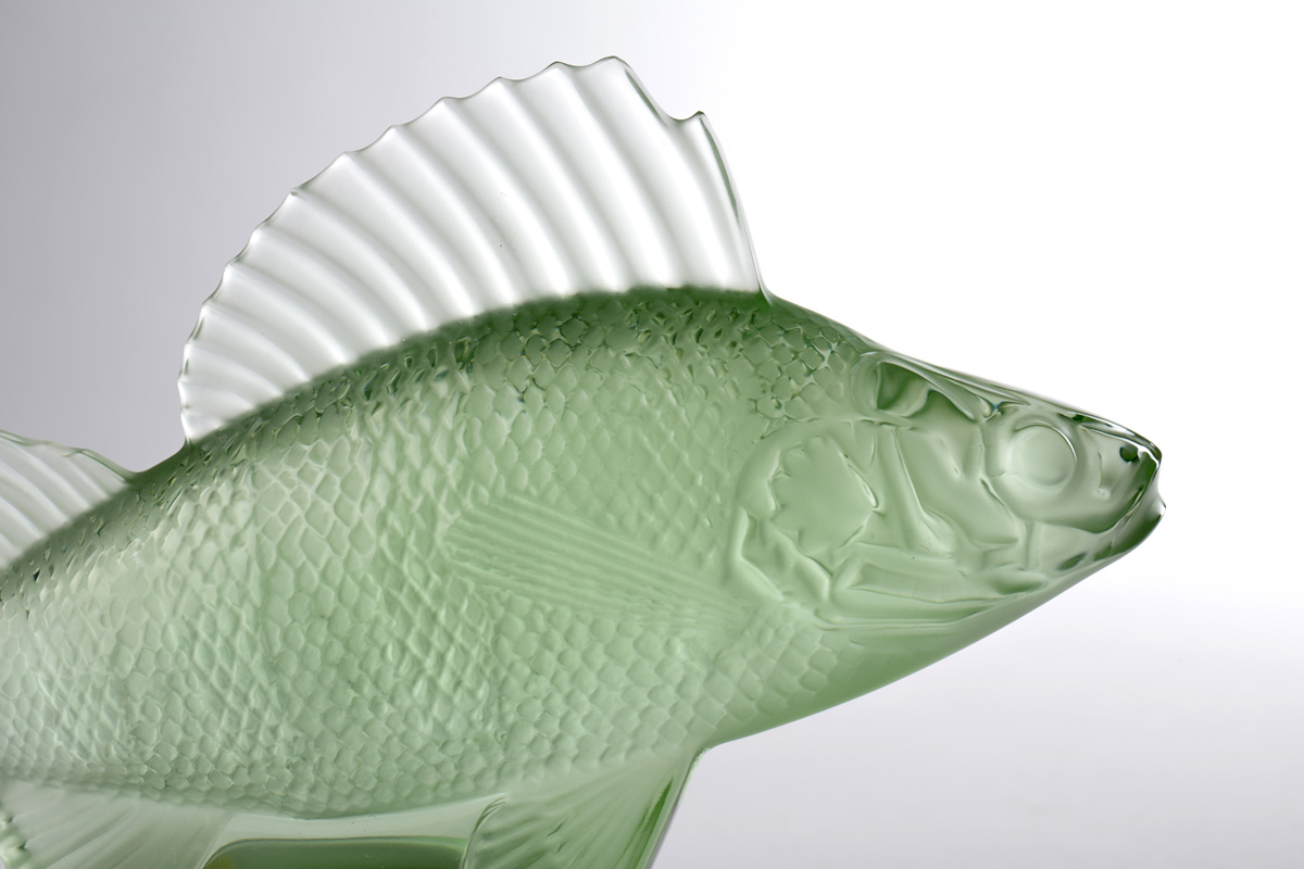 "Lalique ""Poisson Perch Fish Car"" green, 9.5 см"
