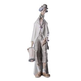 """Большая статуэтка LLADRO """"CLOWN WITH CONCERTINA"""", 45 см"""