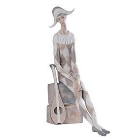 """Большая фарфоровая статуэтка LLADRO """"SAD HARLEQUIN """", 36 см"""