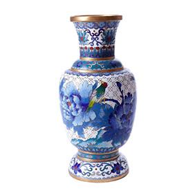 Настольная ваза с цветочным декором, 26 см