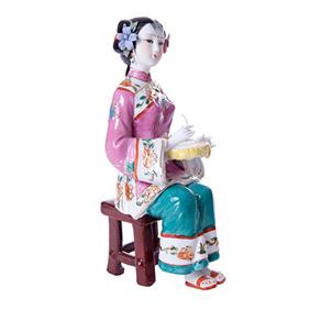 """Китайская фарфоровая статуэтка """"Рукодельница"""", 22.5 см"""