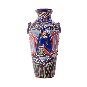 Миниатюрная вазочка с рельефом, 12.5 см