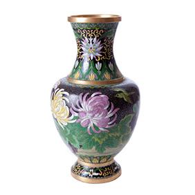 Настольная ваза с цветочным дизайном, 31 см