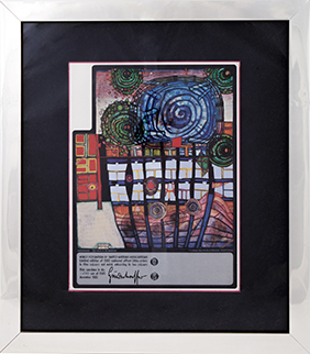 "Friedensreich HUNDERTWASSER ""Escape Of The Indoor Sky"""