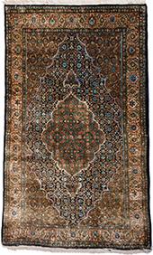 Персидский шёлковый ковёр из Кума, 170х105 см