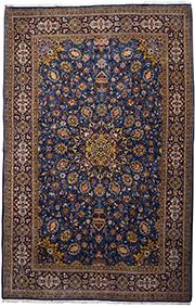 Большой персидский ковёр из Кума, 220х140 см