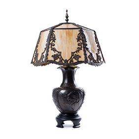 Настольная лампа в японском стиле, 72 см