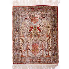 Шёлковый сюжетный ковёр, 98 х 76.5 см